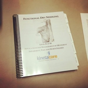 Chandler Physical Therapy Dry Needling Level 2 Kinetacore